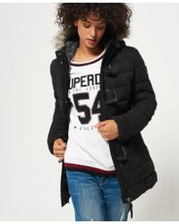 Superdry - Microfibre Tall Toggle Puffle Jacket - Lyst