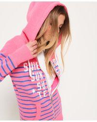 Superdry - Miami Surf Stripe Zip Hoodie - Lyst