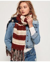 Superdry - Americana Cable Knit Scarf - Lyst
