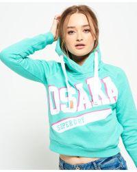 Superdry - Osaka Swoosh Sport Crop Hoodie - Lyst