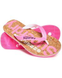 Superdry Glitter Cork Flip Flops