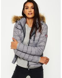 Superdry - Fuji Slim Double Zip Hooded Jacket - Lyst