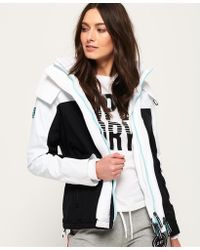 Superdry - Pacific Arctic Hooded Pop Zip Sd-windcheater - Lyst