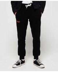 5a719a88 Superdry Men's Orange Label Lite Slim-fit Embroidered-logo Joggers ...