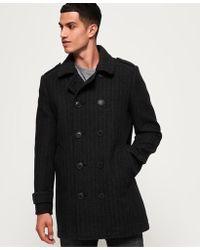 5c04277d74 Superdry Bridge Coat in Black for Men - Lyst