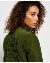 Superdry - Quilted Utility Bomber Jacket - Lyst