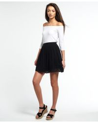 Superdry - Sweep Lace Mini Skirt - Lyst
