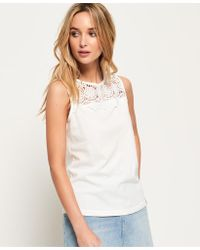 Superdry - Island Lace Tank Top - Lyst