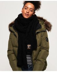Superdry - Chic Regal Cable Scarf - Lyst