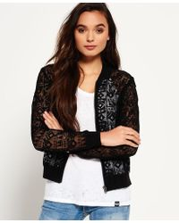 Superdry | Geo Lace Bomber Jacket | Lyst