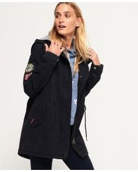 Superdry - Pacific Patch Parka Jacket - Lyst