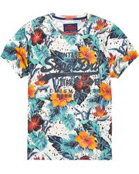 Superdry - Premium Goods Hibiscus Lite T-shirt - Lyst