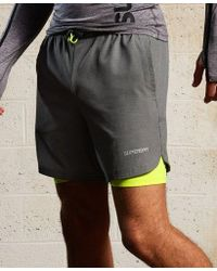 Superdry - Sport Athletic Stretch Double Layer Short - Lyst