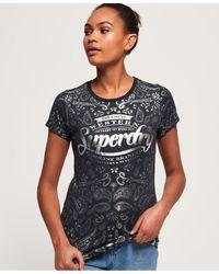 Superdry - Gasoline Foil All Over Print T-shirt - Lyst
