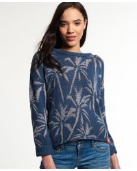 Superdry - Palm Print Slouch Knit Jumper - Lyst