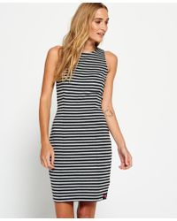 Superdry - 90's Panelled Bodycon Dress - Lyst