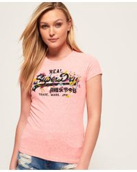 Superdry - Vintage Logo Puff Embroidered T-shirt - Lyst