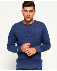 Superdry - Sweatshirt Store Embossed Crew Neck Top - Lyst