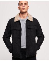 72dc988474 Ralph Lauren Black Label Mason Trucker Jacket in Black for Men - Lyst