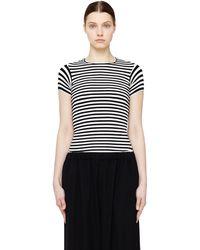 Junya Watanabe - Striped Stretch T-shirt - Lyst