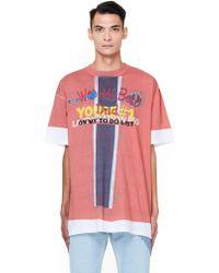 Vetements - Vampire Print Cotton T-shirt - Lyst