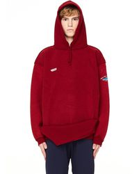 Vetements - Red Inside-out Cotton Hoodie - Lyst