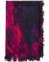 Undercover - Black And Red Cotton Scarf - Lyst