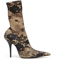 Balenciaga - Lace And Spandex Ankle Boots - Lyst