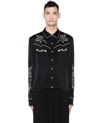 The Soloist - Black Embroidered Shirt - Lyst