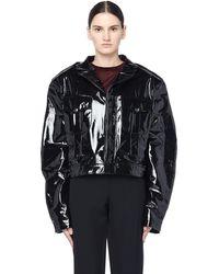 Enfants Riches Deprimes - Cropped Patent Leather Jacket - Lyst