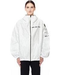 Ueg - Foreign Printed Tyvek Hooded Jacket - Lyst