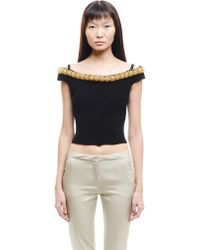 Simone Rocha - Embroidered Cold Shoulders Tailored Top - Lyst