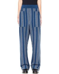Haider Ackermann - Cashmere And Wool Striped Trousers - Lyst