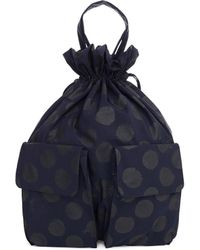 Y's Yohji Yamamoto Navy Blue Polka Dot Backpack