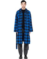 Vetements - Checked Robe Coat - Lyst