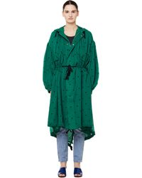 Undercover Green Heart Embroidered Parka Coat