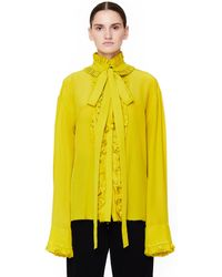 Haider Ackermann - Ruffled Silk Shirt - Lyst