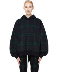 Fear Of God - Plaid Cotton Hoodie - Lyst
