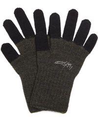 Yohji Yamamoto - Two-color Wool Gloves - Lyst