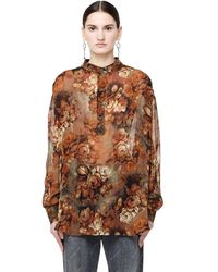 Enfants Riches Deprimes - Silk Georgette Floral Shirt - Lyst