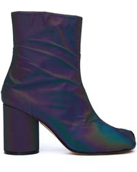Maison Margiela - Holographic Tabi Ankle Boots - Lyst