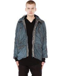e99f9807b896 Adidas Originals Multi-fabric Hooded Jacket in Black for Men - Lyst