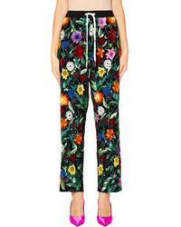 Ashish - Pyjama Trousers With Flower Embroidery - Lyst