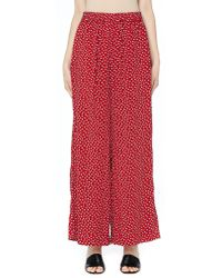 Undercover - Red Wide Leg Polka Dot Pants - Lyst
