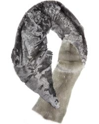 32 Paradis Sprung Freres | Astrakhan And Mink Fur Scarf | Lyst