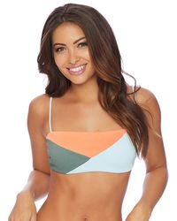 Reef - Sliced Square Neck Bikini Top - Lyst