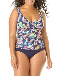 87b3d53e76 Miraclesuit Purr-Fection Jubilee Tankini Top in Brown - Lyst