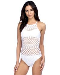 1ab8a399b0 Lyst - Kenneth cole reaction Bombay Babe Embellished Halterkini Top ...