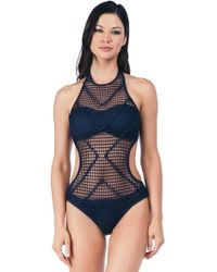 Kenneth Cole - Wrapped In Love High Neck Monokini One Piece Swimsuit - Lyst