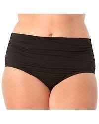 Anne Cole - Plus Size Live In Color Convertible High Waist To Foldover Shirred Bikini Swim Bottom - Lyst